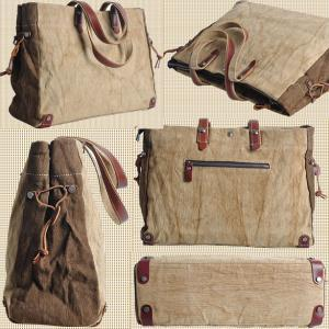 Handmade Leather Canvas Bag Canvas ..