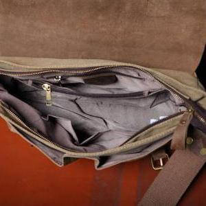 Handmade Leather Canvas Backpacks C..