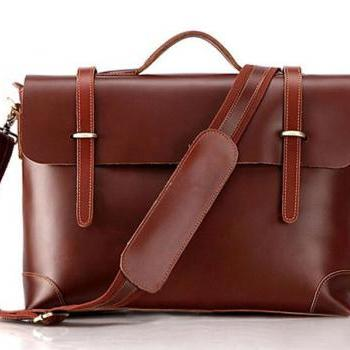 Men's business messenger bag/leather handbag/leather shoulder bag/crossbody bag/laptop bag/leather travel bag